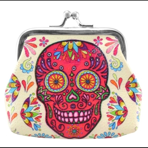 Sugar Skull Handbags - 🍁3/$16 Daisy Sugar Skull Coin Purse